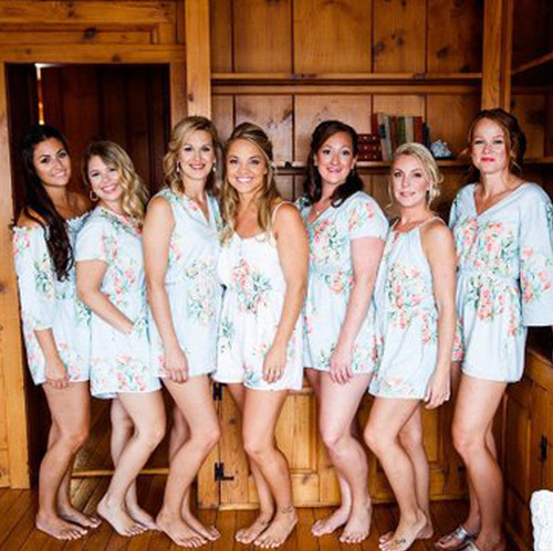 set of 7 bride and bridesmaids rompers set