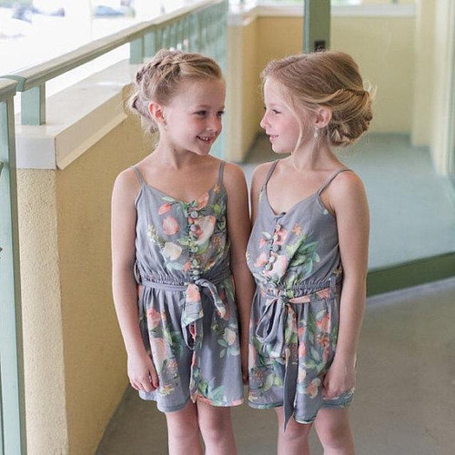 Flower girl rompers