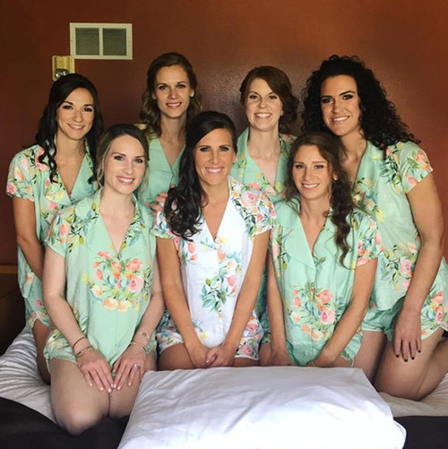 Mint Dreamy  Angel Song Bridesmaids PJ Set