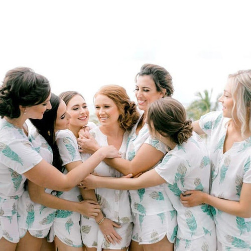 Set of 7 bridesmaids robes