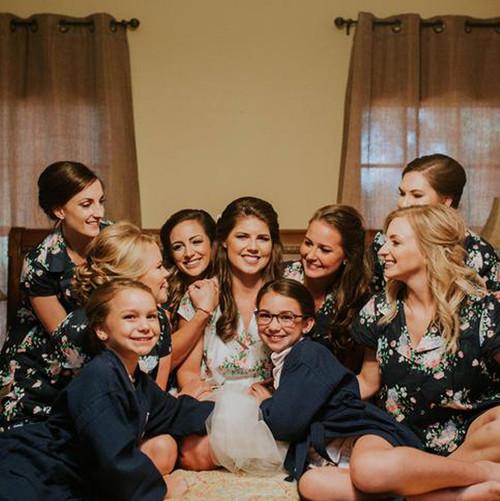 Set of 9 bridesmaids pjs, set of bridal pjs