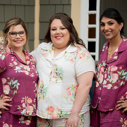 Plum Dreamy Angel Song Bridesmaids PJ Set