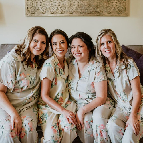 Silver in Dreamy Angel Song Bridesmaids PJ Sets