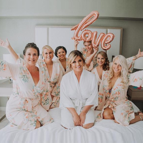 Blush  Dreamy Angel Song Bridesmaids Robes Sets