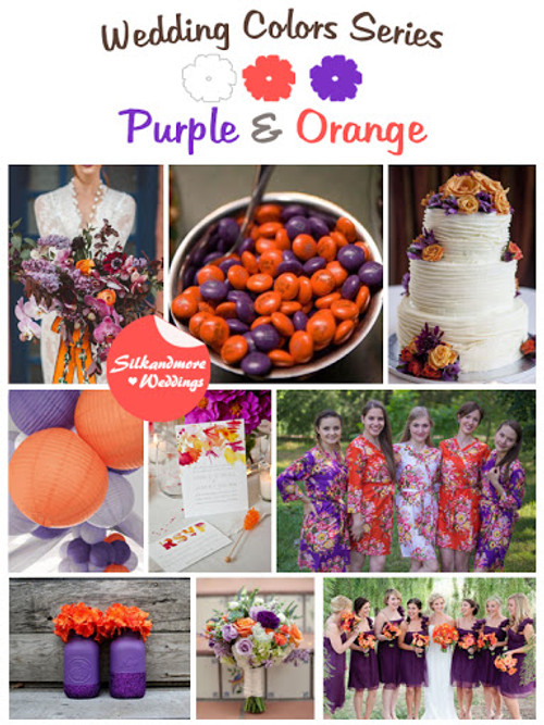 Purple And Orange Wedding Color Robes Robes By Silkandmore