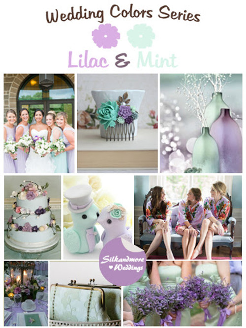 Lilac and Mint Wedding Colors