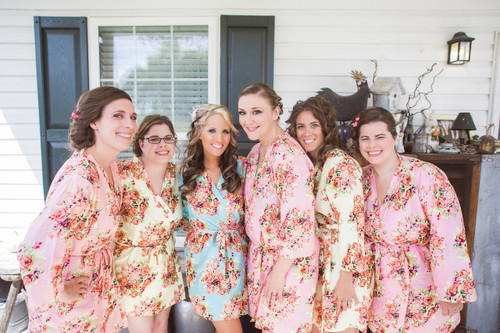 Shabby Chic Bridesmaids Getting Ready Robes