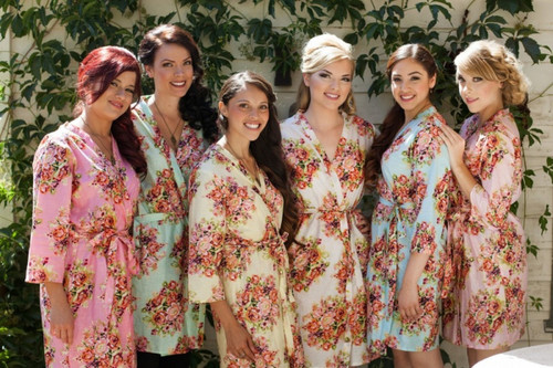 Mix and Match Shabby Chic Bridesmaids Robes