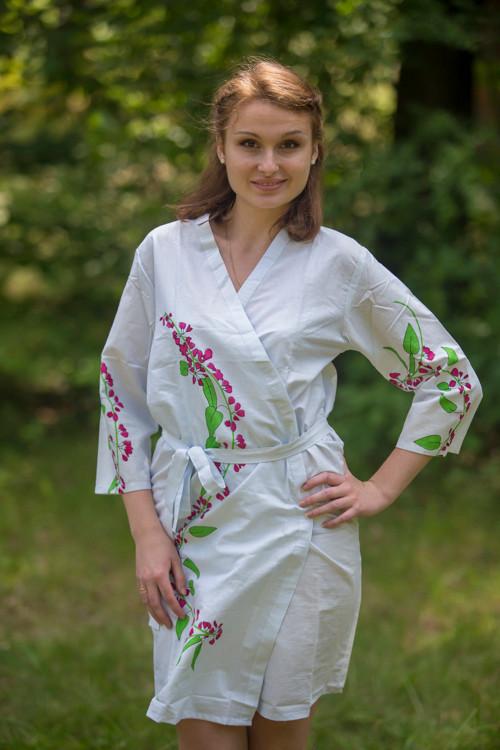 Light Blue Climbing Vines Robes for bridesmaids