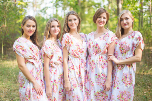 Magic Sleeves Style Kaftans for bridesmaids to get ready in