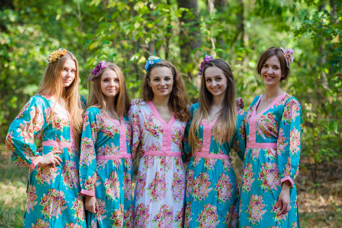 My Peasant Dress Style Kaftans for bridesmaids to get ready in