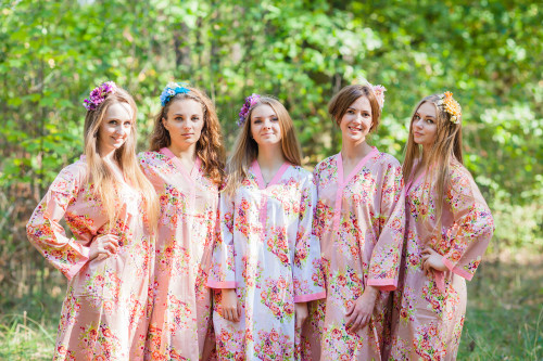 Simply Elegant Style Kaftans for bridesmaids to get ready in