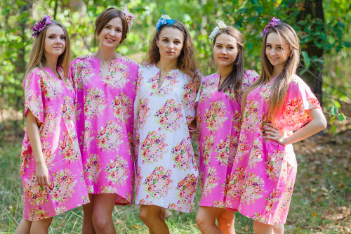 Sunshine Style Kaftans for bridesmaids to get ready in
