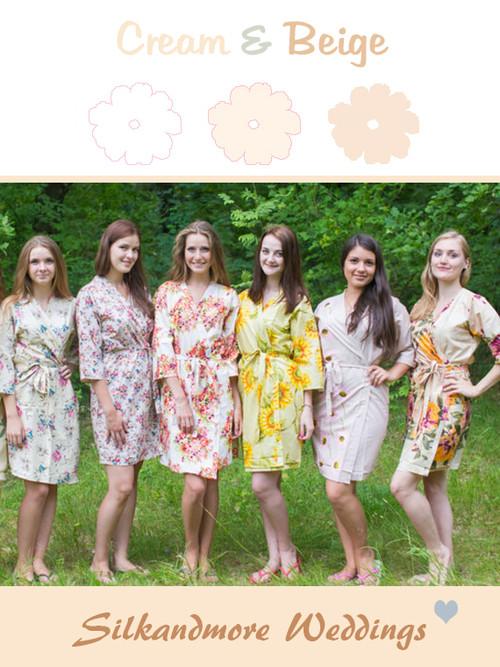 Assorted Creams   SilkandMore Robes