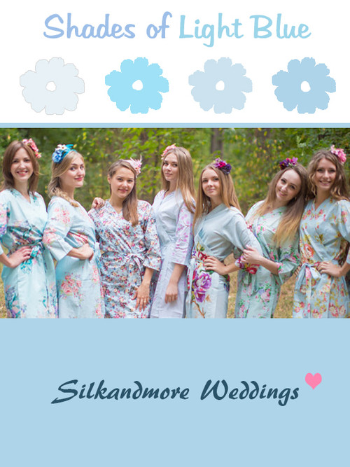 Assorted Light Blues | SilkandMore Robes