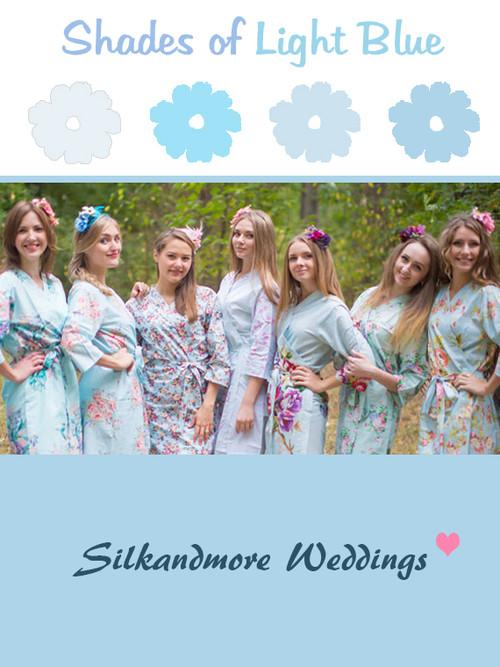 Assorted Light Blues | SilkandMore Robes