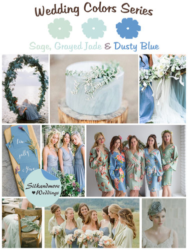 Sage Grayed Jade And Dusty Blue Wedding Color Palette