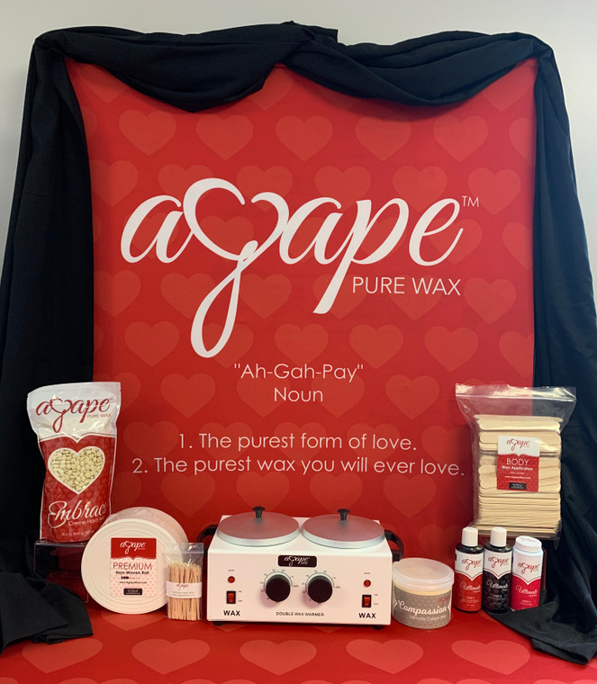 Agape Cream Wax Kit w/ Double Heater