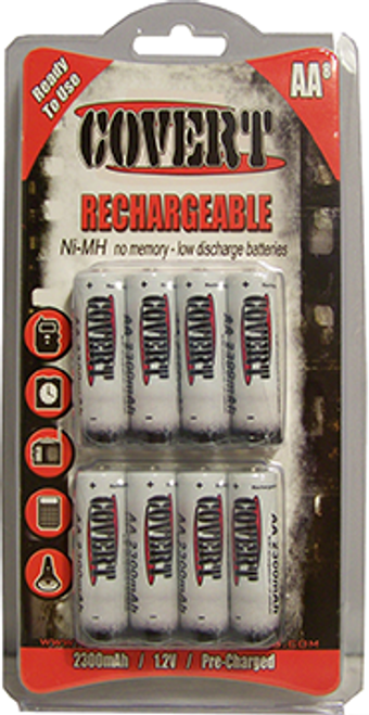 Covert Reghargeable Batteries 12 Pack - 12 Pack