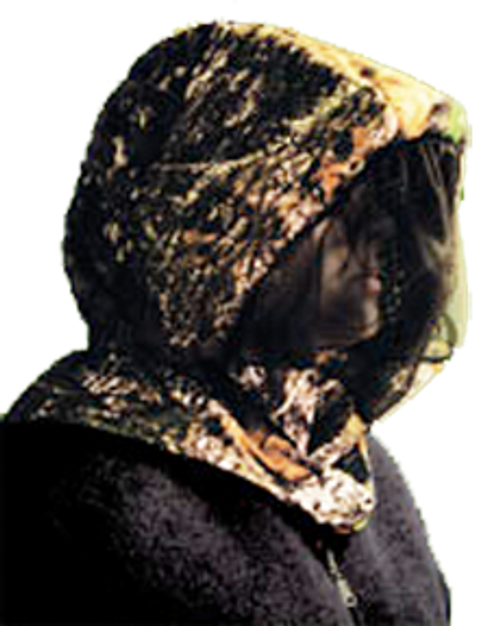 Shannon Outdoors Headnet With Face Shield Breakup Small/Medium