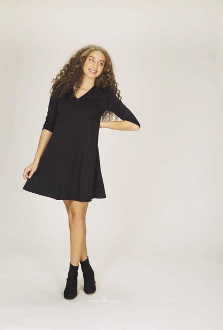 A-Line Dress, Black