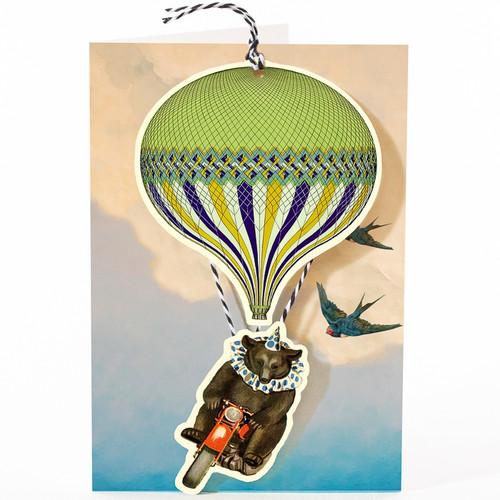 Bear and Balloon Die-Cut Card