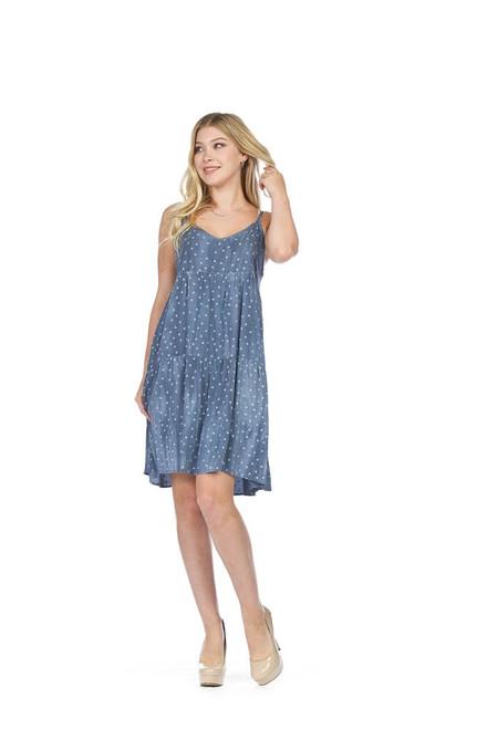Polka Dot Tiered Short Slip Dress