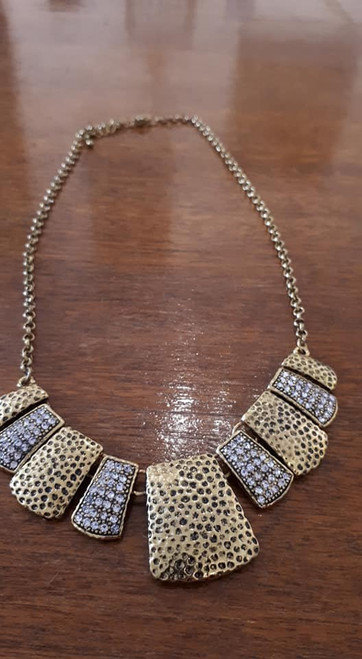 Necklace, Metal Abstract, Mid-Century Modern