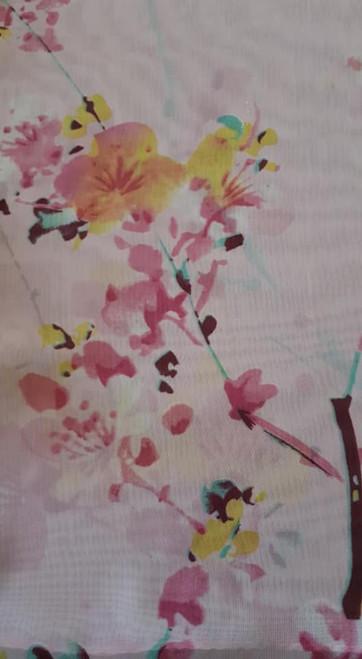 Scarf, Cherry Blossoms design