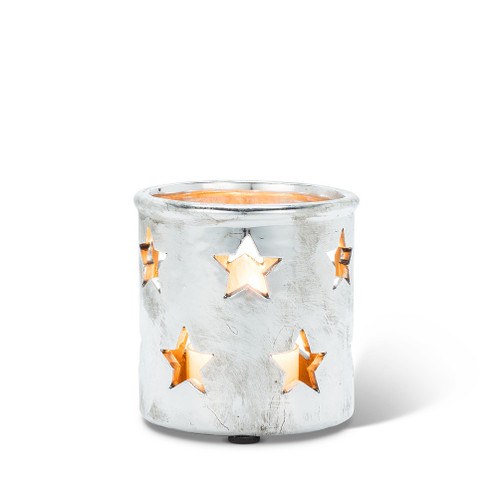 Lantern, Small Star Shaped Hurricane tealight holder