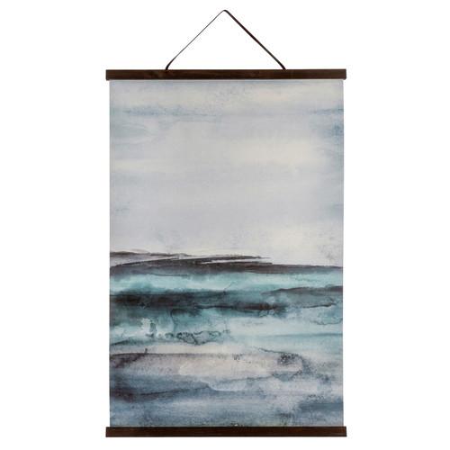 Seas of Blue Linen Wall Hanging