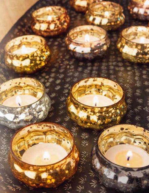 Karma® Mercury Glass Tealight Holders