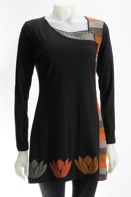 Leopards & Roses® Waterlily Patch Tunic
