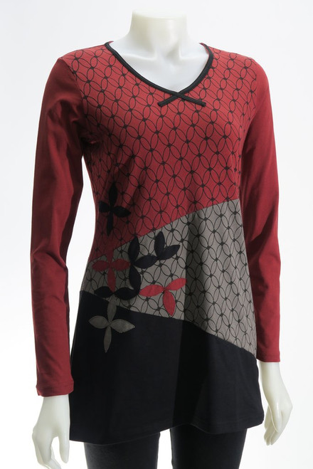 Leopards & Roses®  Flower of Life Applique Tunic