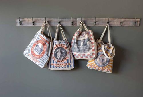 Park Hill ®  Assorted Canvas Farm Theme Shopping Bags