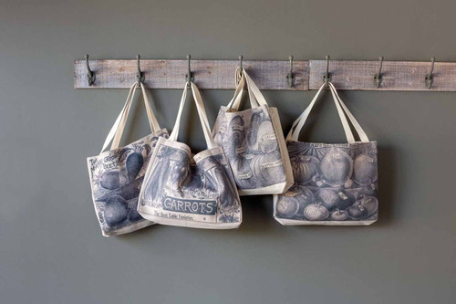 Park Hill ®  Assorted Vintage Veggie Canvas Shopping Bags