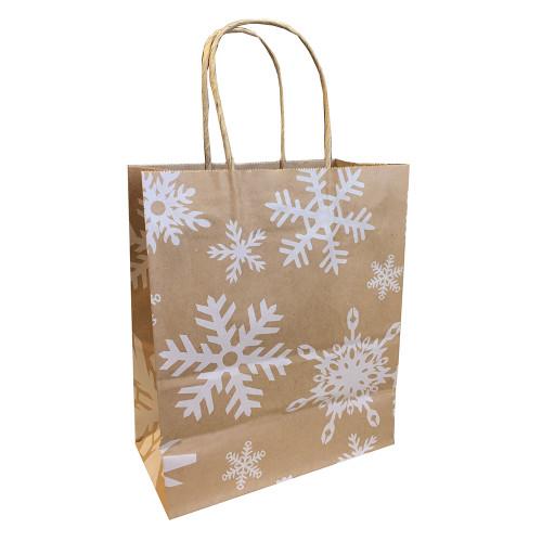 Bag - Paper, Snowflakes 16x16x13