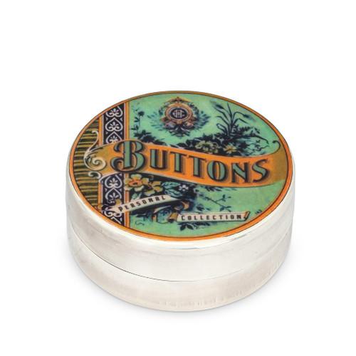 Abbott ® Vintage Silver Plated Button Box