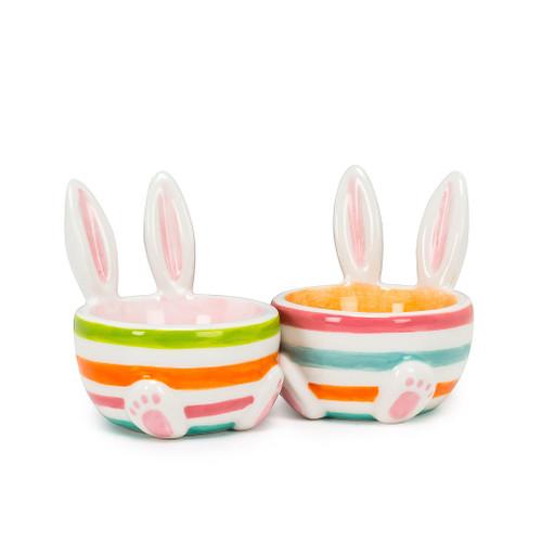 Abbott ®  Easter Rabbit Ears Striped Egg Cup