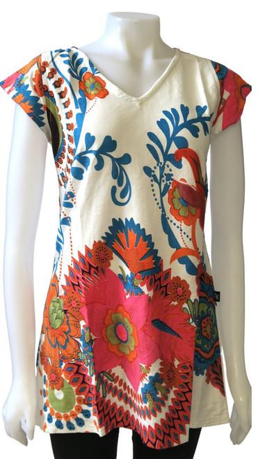Leopards & Roses®  Cotton Floral Top