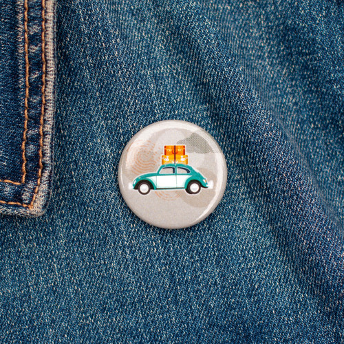 Vintage Style Pacific Northwest Button Badge