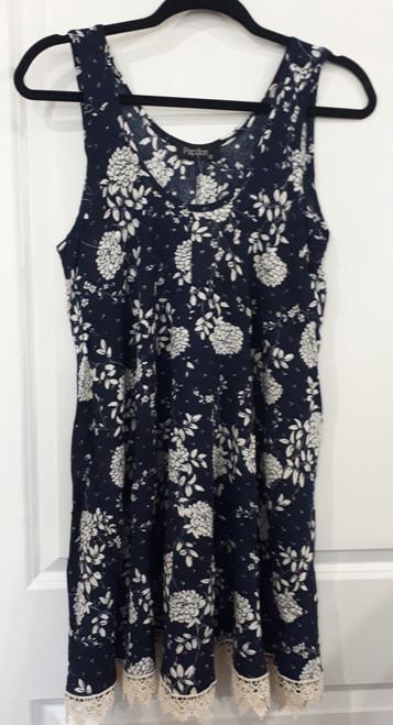 Papillon® Floral Dress with Lace Trim, PD-07527