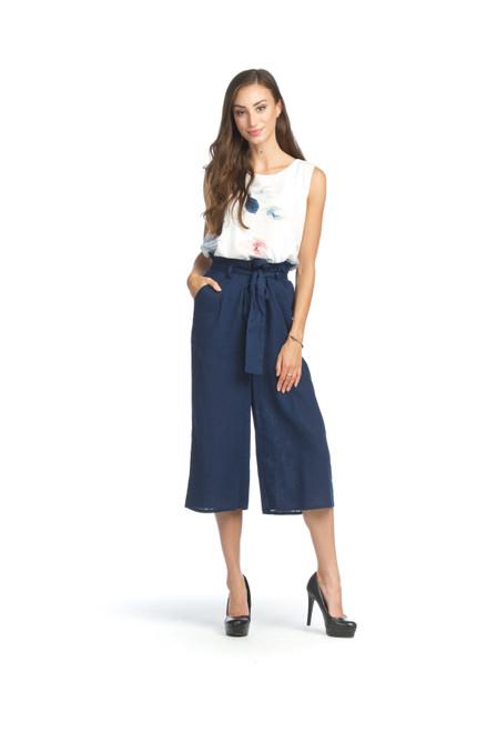 Papillon® Linen Blend Cropped Pants, PP-07807