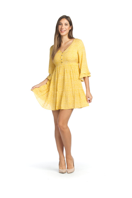 Papillon® Tiered Bell Sleeve Smocked Dress, PD-05760