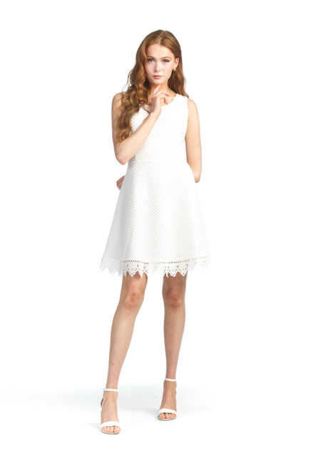 Papillon® Eyelet Dress with Lace Trim, PD-07552