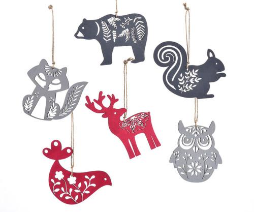 Laser Cut Wooden Ornaments, various