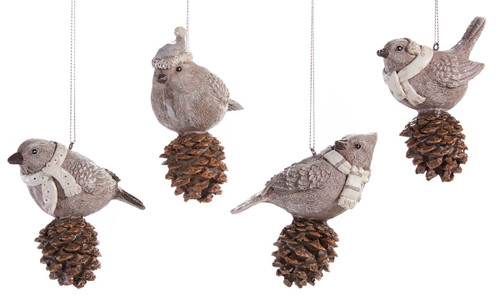 Bird & Pinecone Ornament