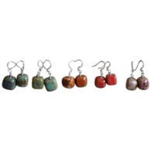 Cube Clay Earrings