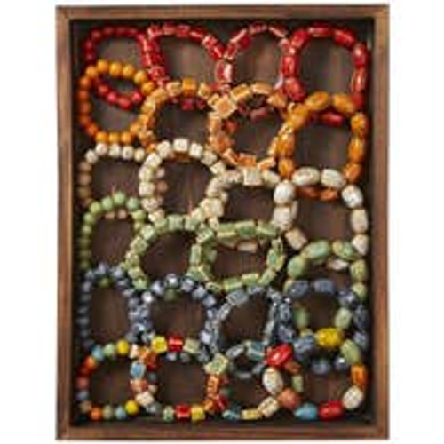 Clay Large Beaded Bracelets
