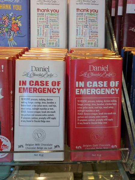 Daniel Le Chocolate Belge® - 85g In Case of Emergency Bar